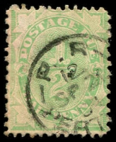 Lot 939:1902-04 Design Completed Wmk Crown/NSW BW #D13B ½d dull green wmk inverted, P11½-12x11, slightly soiled, Cat $25.