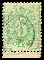 Lot 935:1902 Converted NSW Plates BW #D9 6d green marginal single, wmk upright, Cat $20.