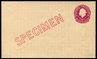 Lot 680:1957-59 4d Plum QEII Small Die BW #EP57w diagonal 'SPECIMEN' in red, Cat $150