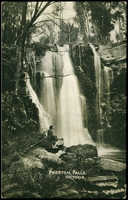 Lot 988 [2 of 2]:1911 1d Red KGV Fullface Victorian Scenes BW #P21(2) 1d red setting 1 with scene of Phantom Falls, from Chiltern to Melbourne, Cat $75.