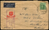 Lot 641:Army Post Office 'ARMY POST OFFICE/2MY45/066.' (Winnellie, NT), on 4d Koala on Salvation Army cover to Hawthorn, Vic, with boxed 'AUSTRALIAN/MILITARY FORCES/PASSED BY CENSOR/1224' (B2) in purple.