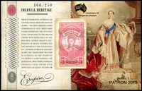 Lot 916 [2 of 2]:2013 Patrons Club set of 2 Colonial Hertitage M/Ss, number 106 of 250.