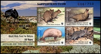 Lot 3767 [3 of 4]:2013 Supporters Club set of 4 2011 WWF Joint Issue M/Ss, number 106 of 750.