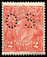 Lot 245:2d Red Die I - BW #96b perf 'OS, Cat $125.