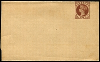 Lot 3592:1882 QV HG #E1 ½d brown, gummed edge stock down.