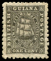 Lot 3777:1863-76 Medium Paper Perf 10 SG #86 1c grey-black with SQ flaw in PETIMUSQUE, Cat £28.