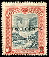 Lot 3780:1899 Surcharges SG #223b 2c on 10c GENTS for CENTS.