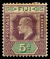 Lot 3920 [2 of 6]:1903 KEVII Wmk Crown/CA SG #106-8,110,112 2d, 2½d, 3d x2, 5d & 1/-, Cat £39. (6)