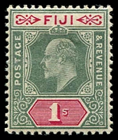Lot 3920 [1 of 6]:1903 KEVII Wmk Crown/CA SG #106-8,110,112 2d, 2½d, 3d x2, 5d & 1/-, Cat £39. (6)