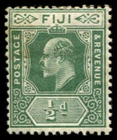 Lot 3921:1906-12 KEVII Wmk Multi Crown/CA New Colours SG #118 ½d green, Cat £12. (2)