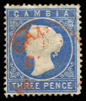 Lot 3468:1880-81 Cameo Wmk Crown/CC Upright SG #14cB 3d pale dull blue, Cat £32.