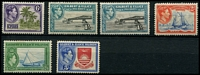 Lot 4035 [2 of 2]:1939-55 KGVI Pictorials SG #43-54 complete set, with 3d P13½x2, 3d P12, 5d x2, 1/- both shades, Cat £88 (16)