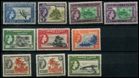 Lot 4037 [2 of 2]:1956-62 QEII Pictorials SG #64-75 set to 10/-, with both shades of 2d & 3xtra 6d, Cat £108. (14)