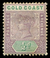 Lot 3547:1898-1902 QV SG #26 ½d dull mauve & green