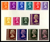 Lot 4109:1977 QE II Definitives set of 14 values to $20 in PO Presentation Folder. (14)