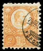 Lot 23919:1871-73 Engraved SG #8 2k orange-yellow, thin paper, Cat £17.