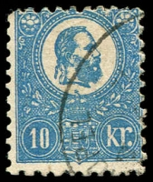 Lot 23915:1871-73 Lithograph SG #5 10k blue, Cat £300.