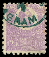 Lot 23917:1871-73 Lithograph SG #7 25k mauve, Cat £475.