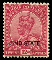 Lot 21689:1927-37 KGV Wmk Mult Star SG #97a 12a claret Wmk inverted, Cat £13.