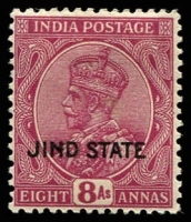 Lot 3679:1927-37 KGV Wmk Mult Star SG #96 8a reddish purple, Cat £12.