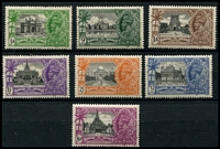 Lot 3658:1935 Silver Jubilee SG #240-6 set of 7, Cat £30.