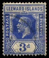 Lot 3801:1921-32 Wmk Multi Script CA SG #68a, 3d deep ultramarine, Cat £60.