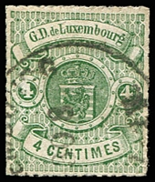 Lot 22175:1865-71 Arms Roulettes SG #20 4c green, Cat £38