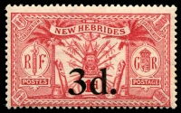 Lot 3950 [2 of 3]:1924 Suva Surcharges SG #40-2, set of 3, Cat £14.