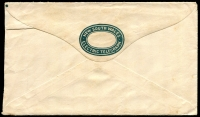 Lot 908 [3 of 3]:1895 Normal Telegram Hancock N-D-10c red on white with italic text etc, 'GULGONG/22AU1906/N.S.W' cancel, with dark green/white Telegram Envelope #N-E-5.