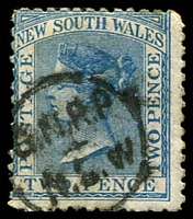 Lot 6562:North: undated 'G.N.R.P/_._/N.S.W' Peck #N1 on 2d DLR . [Rated 7]