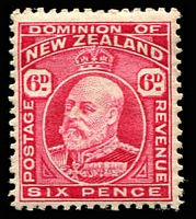 Lot 4413 [3 of 6]:1909-12 KEVII Perf 14x14½ SG #388-94 Range 2d mauve, 3d chestnut, 4d yellow, 6d carmine, 8d indigo-blue & 1/- vermilion, Cat £142. (6)