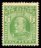 Lot 4412:1909-12 KEVII Perf 14x15 SG #387 ½d yellow-green.