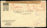 Lot 4223:1965: (Dec 23) censored air cover with Habib Bank meter to Melbourne.
