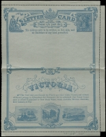 Lot 11419:1890 Price 1/3 Per Doz. Stieg #A2 1d blue on gray chalky paper, unused, left selvedge missing, Cat $25.