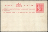 Lot 2210:1899 1d Brick Red to Rose Red on Cream Stieg #P19 setting A, minor soiling, Cat $20.