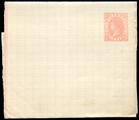 Lot 11466:1885 QV Without Watermark Stieg #E10 ½d rose on cream stock, unused, Cat $15.