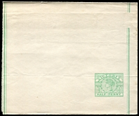 Lot 2229:1899 ½d Emerald-Green Stieg #E20 unused, stock down, Cat $10.