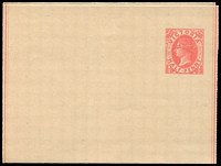 Lot 10293:1885 ½d Pink on Buff Stock Stieg #KE4a fresh unused, Cat $15.
