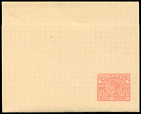 Lot 2233:1887 ½d Light Rose Stieg #KE10 on cream wire wove paper, Cat $15.