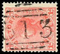Lot 10707:513: '513' on 1d pink. [Rated R]  Allocated to Cambrian Hill-PO 13/2/1865; closed 31/10/1966.