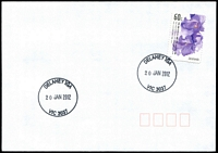 Lot 2501:Delahey IGA: - WWW #10 'DELAHEY IGA/20JAN2012/VIC 3037' on 60c on unaddressed cover.  PO 5/12/2011.