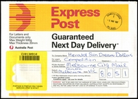 Lot 2604:Diamond Creek: - WWW #170 30mm 'DIAMOND CREEK/E/25MAY1997/VIC 3089' on Express Post envelope.  PO 7/2/1863.