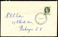 Lot 3012:Yarra Junction: WWW #30A 'YARRA JUNCTION/30AP64/VIC-AUST' (arcs 3½,3) on 5d green on cover.  PO 20/11/1901; LPO 10/11/1993.