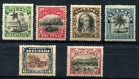 Lot 3080:1920 Pictorials SG #24-9 set of 6, 1d has Double derrick, Cat £35. (6)