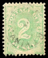 Lot 610:1902 Converted NSW Plates BW #D5d 2d emerald with White scratch from upper right side of 2 to right frame, Cat $40.