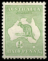 Lot 122:½d Green - BW #1 Cat $15.