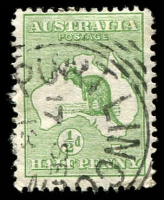 Lot 126:½d Green [1L48] Cut Throat