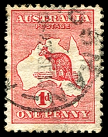 Lot 129:1d Red Die I BW #2a Wmk inverted, Cat $50