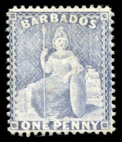 Lot 3345:1875-81 Britannia Wmk Crown/CC Perf 14 SG #74 1d grey-blue, Cat £140.