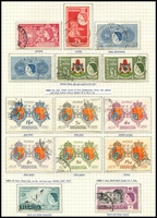 Lot 3367 [3 of 4]:1946-68 Issues SG #123-78 incl 1953-62 Pictorials set to £1 x2, and 1962-68 Pictorials to 10/-, Cat £80+. (61)